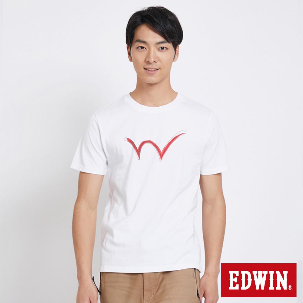 EDWIN 東京系列W反光短袖T恤-男-白色