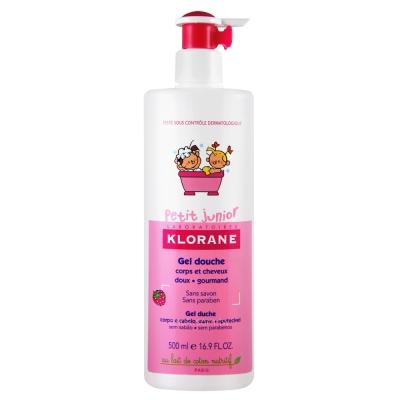 KLORANE bebe蔻蘿蘭寶寶 兒童甜蜜莓果洗髮沐浴精500ml