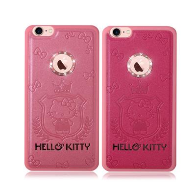正版授權Hello Kitty iPhone 7 凱蒂貓星鑽金莎手機殼(皇冠凱蒂...
