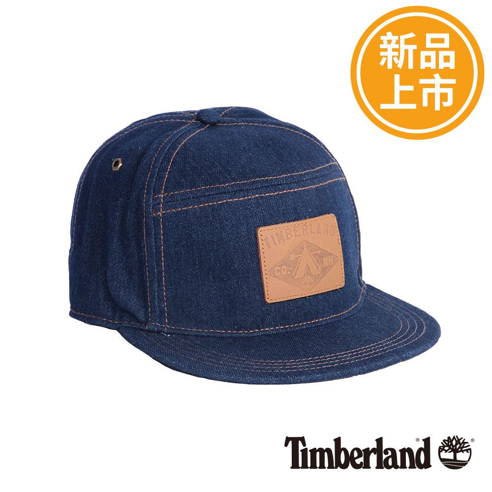 Timberland牛仔藍刺繡棉質棒球帽