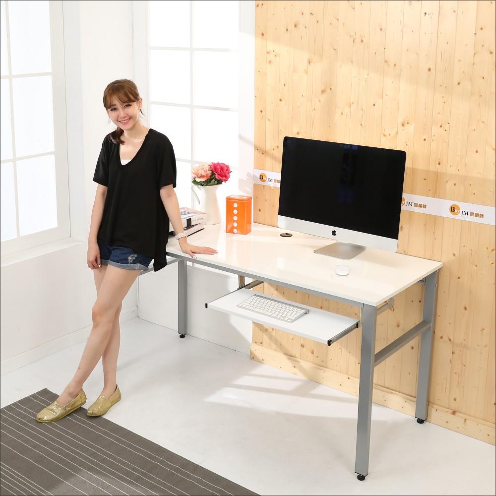 BuyJM 鏡面環保低甲醛單鍵盤穩重型工作桌-寬160公分-DIY