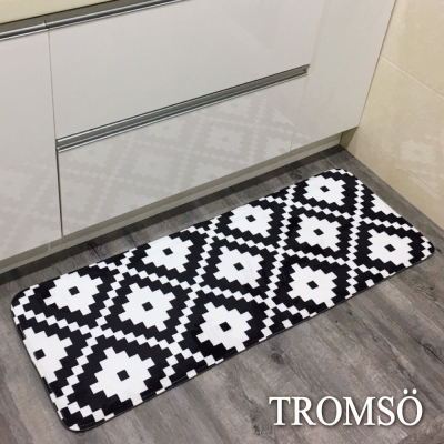 TROMSO簡單生活超柔軟舒適特長地墊 M225黑白圖騰