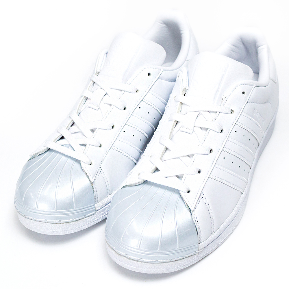 ADIDAS-SUPERSTAR女休閒鞋-白