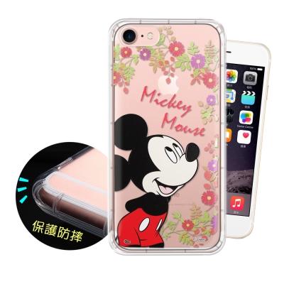 迪士尼正版 iPhone 8/iPhone 7 花系列 空壓安全手機殼(米奇)