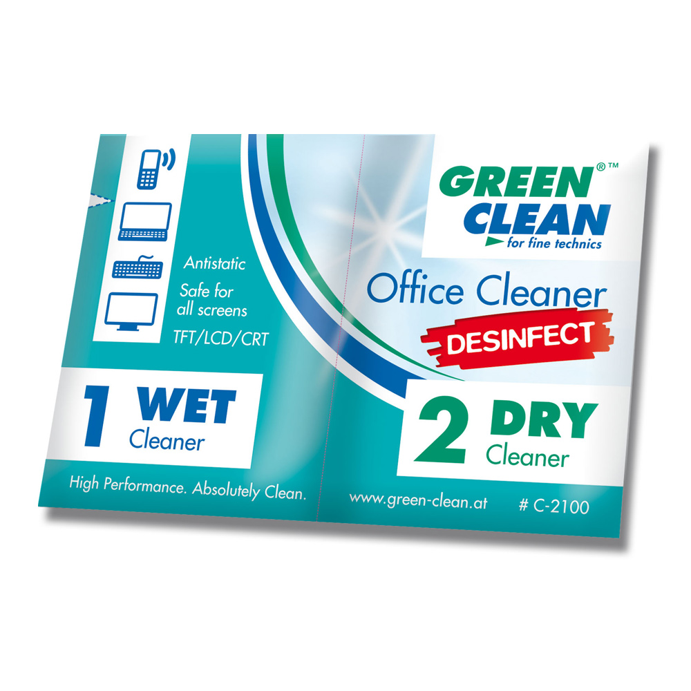 GREEN CLEAN OfficeCleaner 辦公室清潔乾濕巾 C-2100