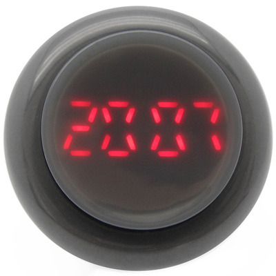 CLICK 復古大圓鍵快打電子腕錶-灰/45mm