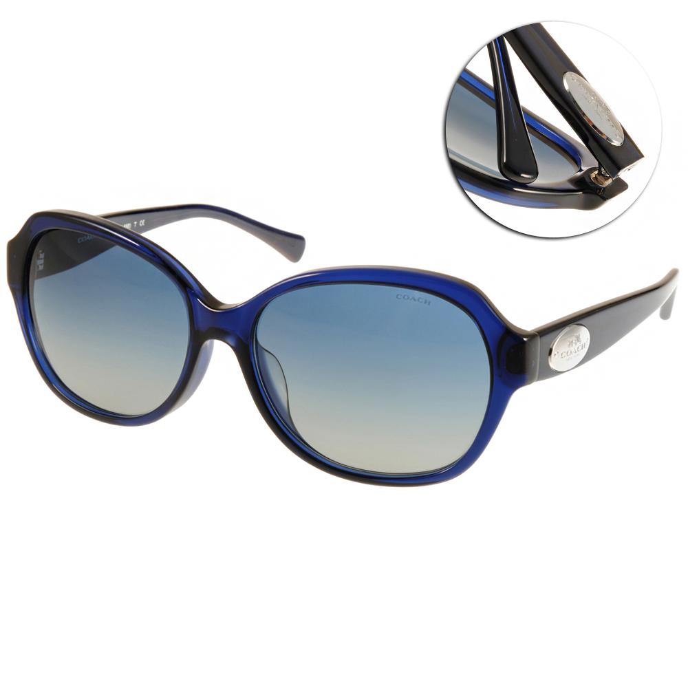 COACH太陽眼鏡 美式大框/藍#COS8150F 51104L