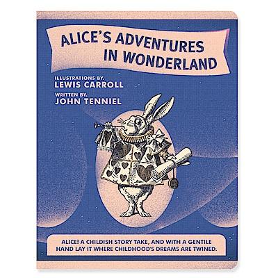 7321 Design 魔幻系列-愛麗絲橫線筆記本L-白兔先生