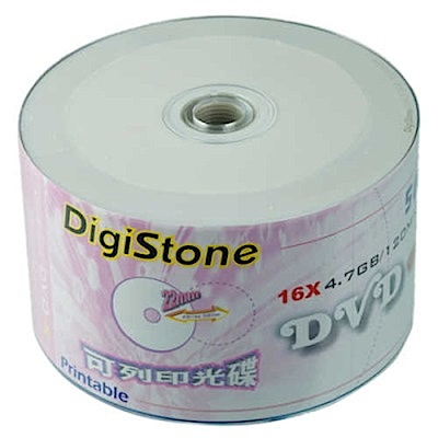 DigiStone 可印式A級 DVD-R 16X 裸裝 ( 600片)