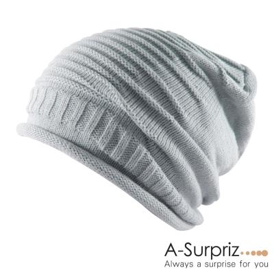 A-Surpriz  雅痞簡約時尚風針織帽(帥性灰)