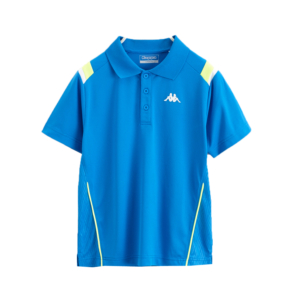 KAPPA義大利小朋友吸濕排汗速乾KOOL DRY 彩色POLO衫 科技藍