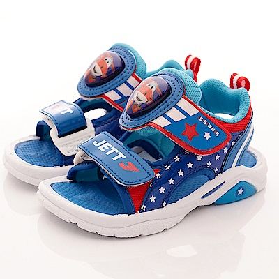 SUPER WINGS 捷特LED電燈涼鞋款 EI3810藍(中小童段)