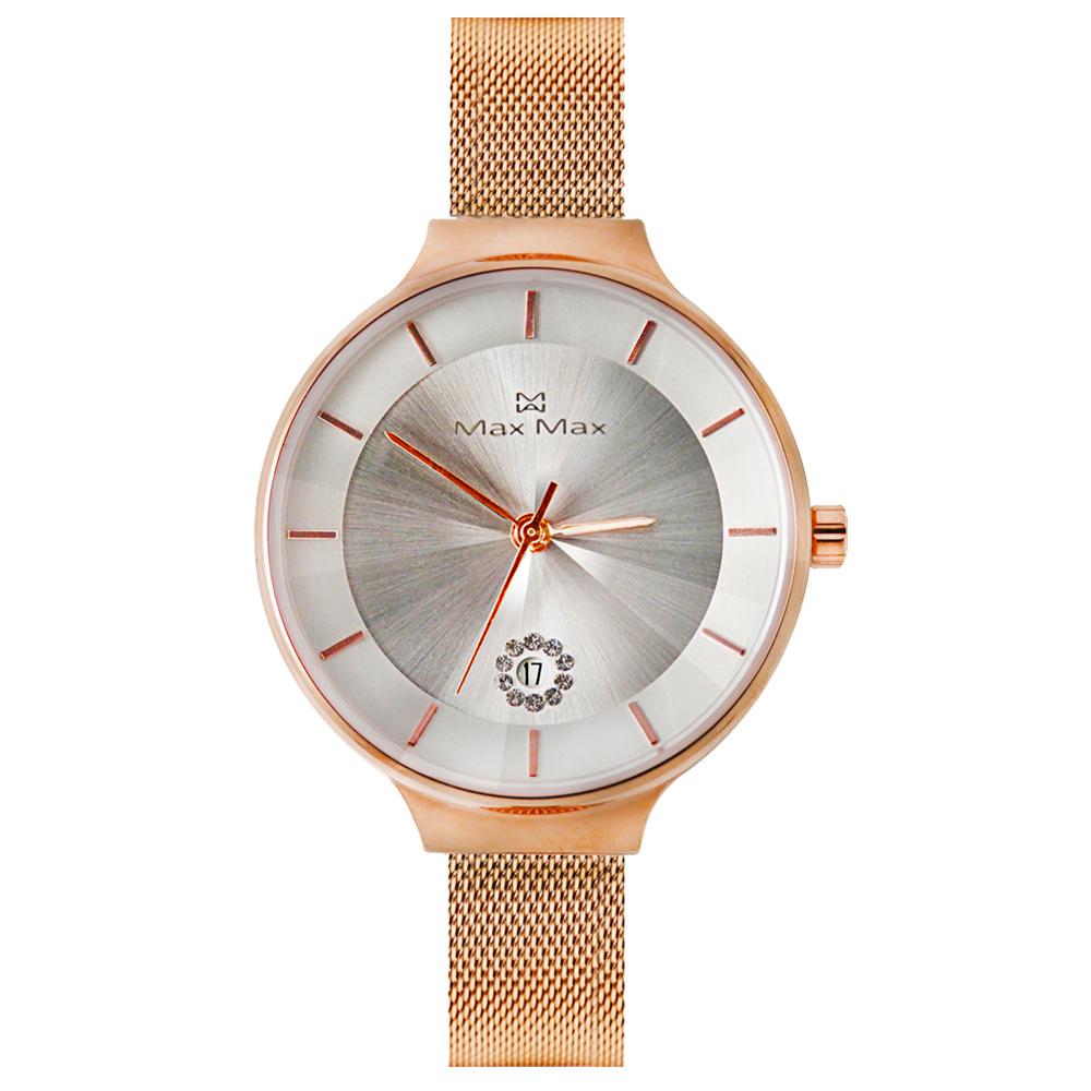 Max Max 晶鑽日期時尚腕錶-MAS7027-2