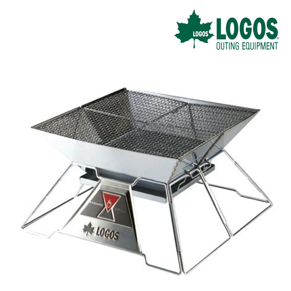 【日本 LOGOS】紅標不鏽鋼焚火台 EVO-XL /烤肉爐/燒烤爐具/適露營野炊