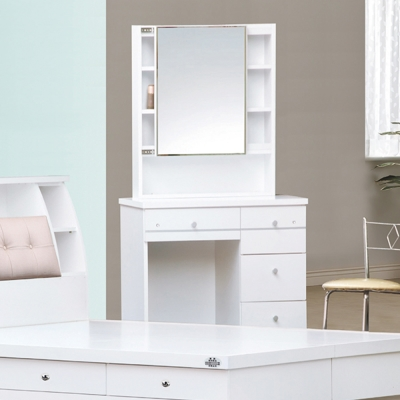 AS-艾富2.7尺白色活動鏡化妝桌-80x40x158cm