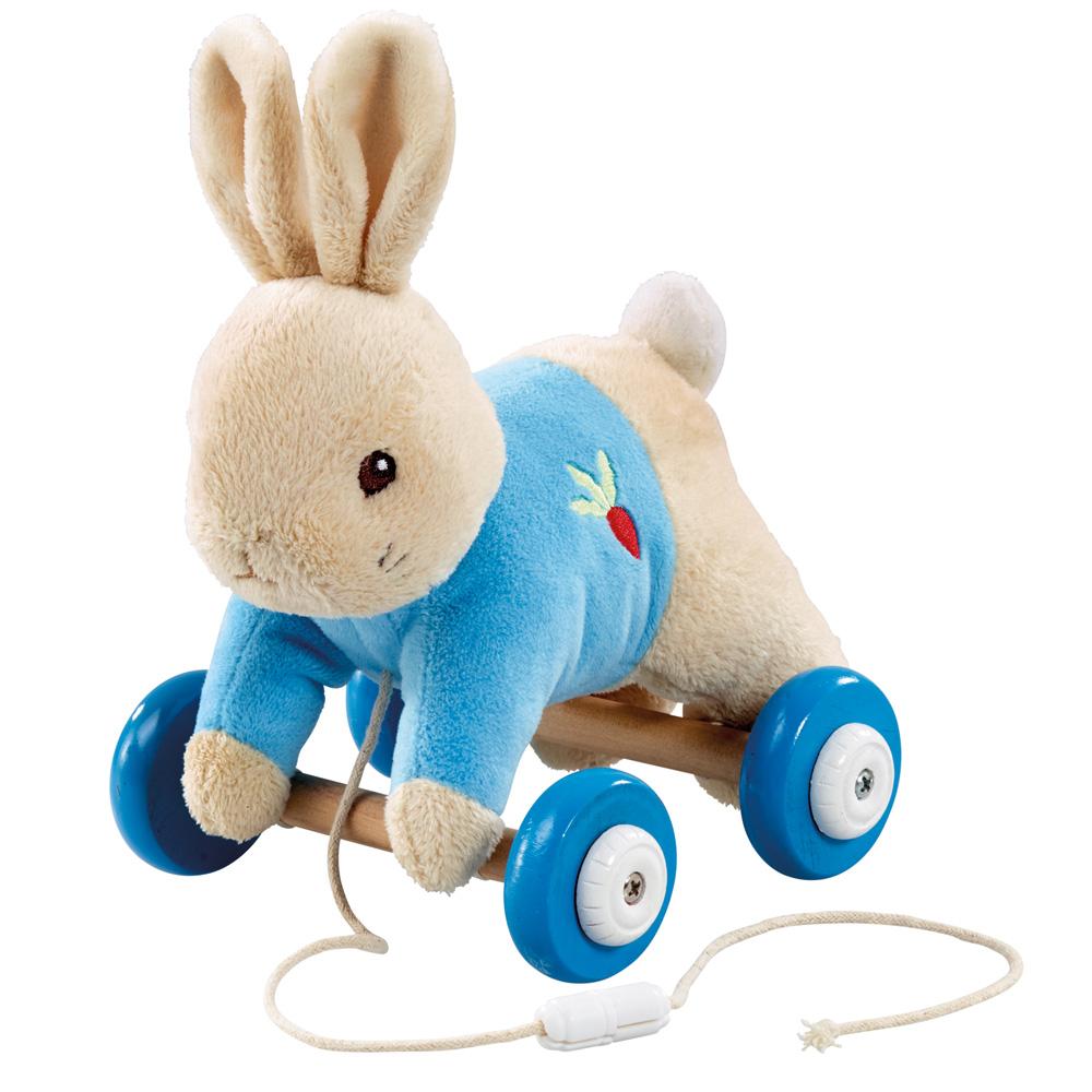 奇哥 比得兔玩偶小車-粉藍