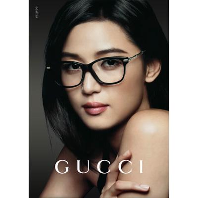 GUCCI-全智賢最新廣告款 竹節光學眼鏡(黑色)