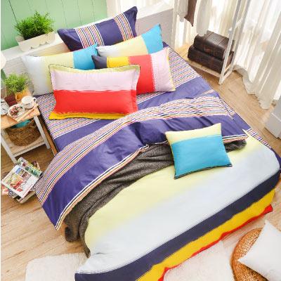 Grace Life 我愛時尚 精梳純棉雙人全鋪棉床包兩用被四件組