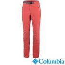 【Columbia哥倫比亞】女-鈦防潑防曬50彈性長褲-紅 UAR19450CL