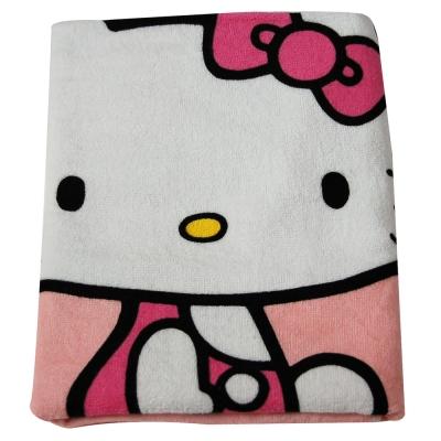 Sanrio三麗鷗授權Hello Kitty凱蒂貓系列-復古紅圓點凱蒂貓小浴巾