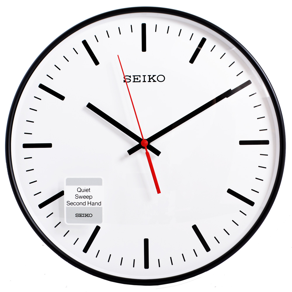 SEIKO 精工 極簡立體 滑動式秒針 靜音 時鐘 掛鐘(QXA701K)-29.5cm