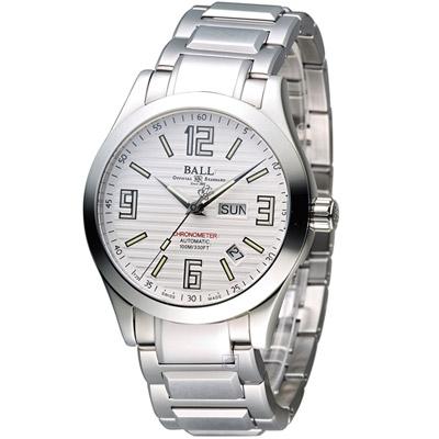 BALL 波爾 Engineer II 機械腕錶-白/40mm