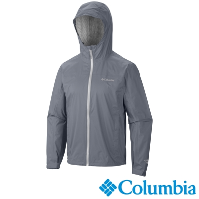 【Columbia哥倫比亞】男-防水快排單件式外套-灰色 URE20230GY