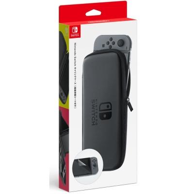 任天堂 Nintendo Switch 主機包 (黑色) 附螢幕保護貼