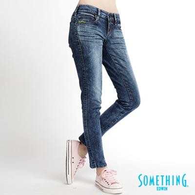 【SOMETHING】STORYⅢ夢幻美腿 超窄直筒伸縮牛仔褲-女款(拔洗藍)