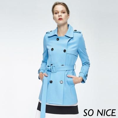 SO NICE時尚俐落風衣外套