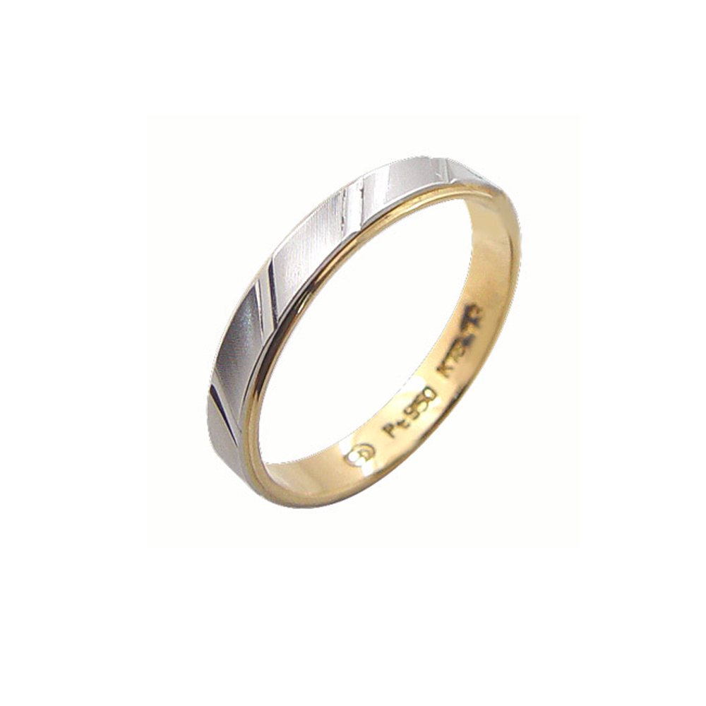 MODDO「真愛不變」日本鉑金+K金戒