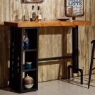 AT HOME - 庫克4.6尺貨櫃造型吧台桌 140x50x106cm