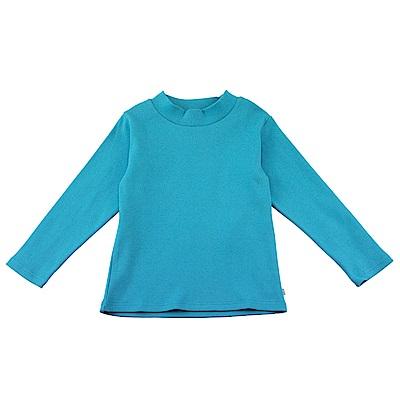 愛的世界 SUPERMINI 彈性羅紋長袖套頭衫-土耳其藍/2~4歲