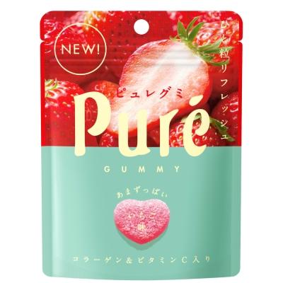 甘樂Kanro Pure鮮果實幸福草莓軟糖(45.5g)
