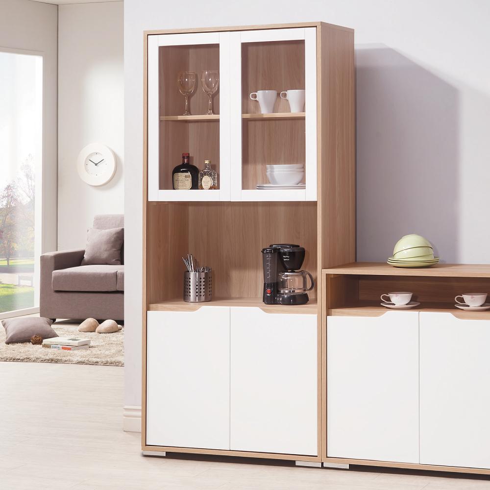 AS-愛里絲北歐風2.7尺展示置物櫃-40x80.5x185.5cm