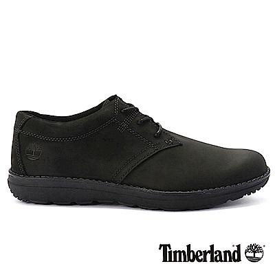 Timberland 男款黑色絨面防滑皮革淺口鞋