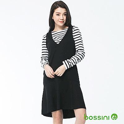 bossini女裝-V領無袖連身裙黑