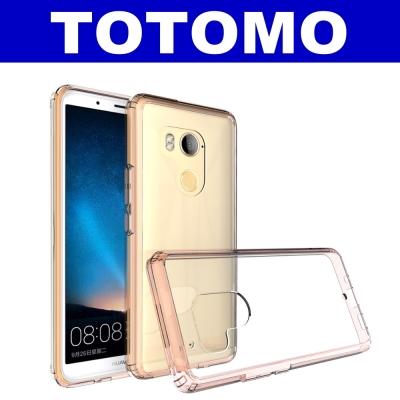 TOTOMO For:HTC U11-Plus防摔保護殼高顏質超透感硬背板雙料晶粉