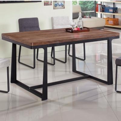品家居-艾德克5尺長方餐桌