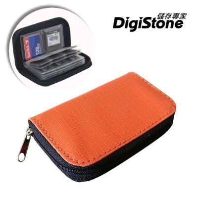 DigiStone 22片裝多功能記憶卡收納包(18SD+4CF)-橙X1P