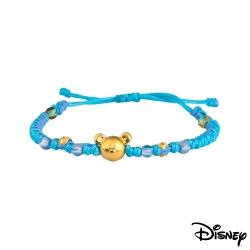 Disney迪士尼金飾 雀躍米奇黃金編織手鍊之三