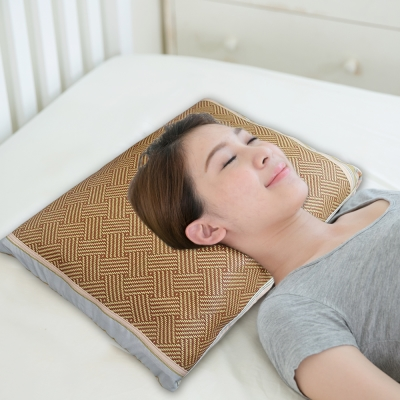 凱蕾絲帝-台灣製造-純天然清涼透氣紙纖綠豆枕-成人大枕