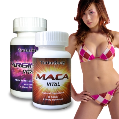 Turbo Body─男子漢威風雙效組-精益猛 強效瑪卡錠+精胺酸 (二瓶組)