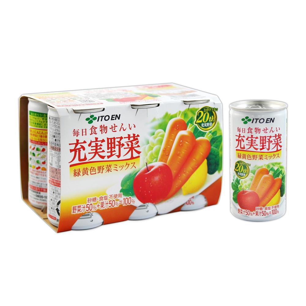 伊藤園充實野菜汁-6罐裝(1140g)
