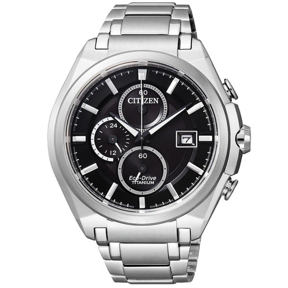 CITIZEN Eco-Drive 輕量超級鈦計時腕錶(CA0351-59E)-43mm