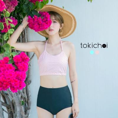 東京著衣 韓國同步T形泳裝上衣-S.M(共二色)