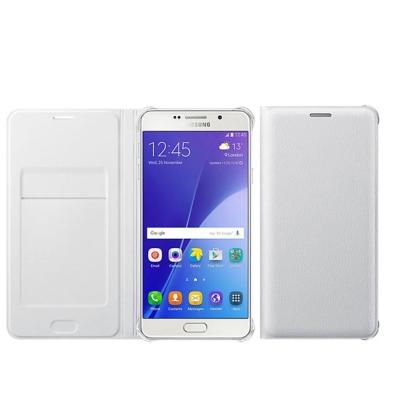 SAMSUNG Galaxy A7 (2016版) 原廠側掀式式皮套(白色)