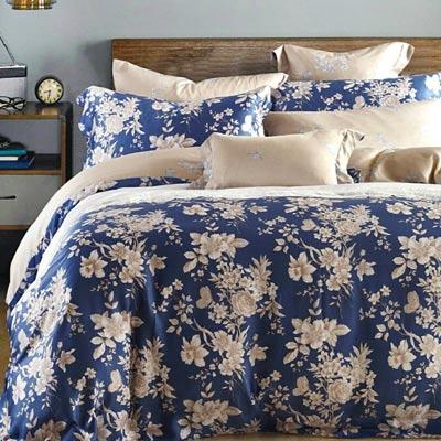 Saint Rose 藍之夢 雙人100%純天絲兩用被套床罩八件組