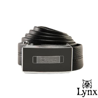 Lynx - 山貓城市系列簡約款自動扣真皮皮帶