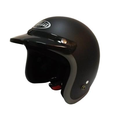ASIA A-706 精裝素色寬條安全帽 平黑/灰